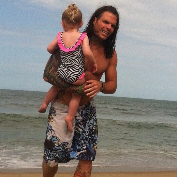 Jeff Hardy et Sa fille Ruby ClaireJeff Hardy And His Daughter